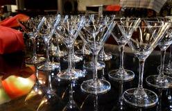 Vetro vuoto del champagne o del cocktail Fotografia Stock Libera da Diritti
