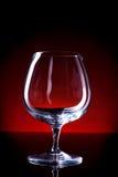 Vetro vuoto del cognac Fotografie Stock