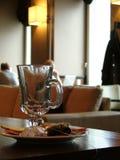 Vetro vuoto del tè fotografie stock libere da diritti
