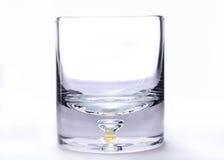 Vetro vuoto di whiskey Immagini Stock Libere da Diritti