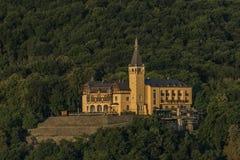 Vetruse kasztel nad Usti nad Labem miastem zdjęcia stock