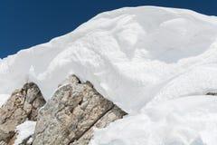 Vetta profonda di inverno del primo piano - Austria Immagine Stock