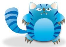 Vette blauwe kat Stock Foto