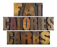 Vette Calorie?ncarburatoren stock fotografie