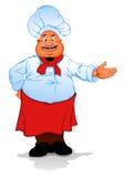 Vette chef-kokkok Royalty-vrije Stock Fotografie
