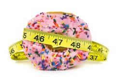 Vette Doughnut - Ongezond Voedsel stock afbeelding