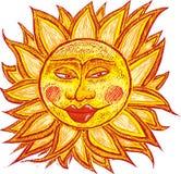 Vette oude zon Stock Foto