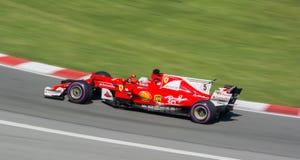 Vettel - 5 przy 2017 kanadyjczykiem Gran Prix Zdjęcia Royalty Free