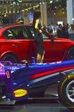 Vettel, salon international d'automobile de Moscou de taureau rouge de Rikyardo Image stock