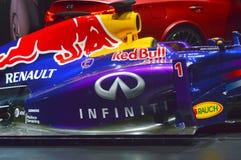 Vettel, salon international d'automobile de Moscou de taureau rouge de Rikyardo les champions Images libres de droits