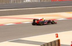 Vettel van Red Bull dat in F1 rent, 20 April 2012 Royalty-vrije Stock Foto