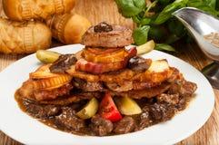 Vettig ongezond voedsel Royalty-vrije Stock Foto
