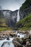 Vettisfossen in Utladalen, Norwegen Stockfotografie