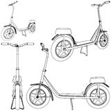 Vettore 01 della bicicletta del motorino Fotografia Stock