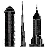 Vettore 2 delle costruzioni del grattacielo illustrazione di stock