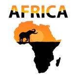 Vettore Africa Fotografie Stock