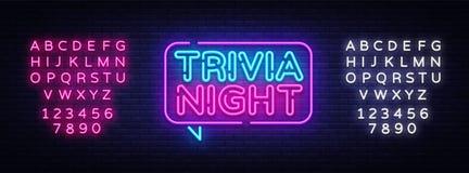 Vettore al neon dell'insegna di annuncio di notte di banalità Insegna leggera, elemento di progettazione, neon Advensing di notte illustrazione vettoriale