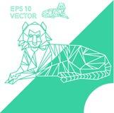 Vettore animale geometrico del profilo ENV della tigre Fotografie Stock