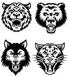 Vettore animale Logo Set della mascotte Fotografia Stock
