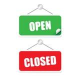 Vettore aperto e chiuso dell'etichetta Immagine Stock Libera da Diritti
