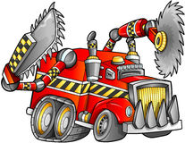 Vettore apocalittico del veicolo del camion Fotografie Stock Libere da Diritti