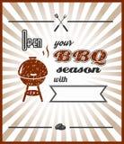 Vettore Apra la vostra stagione del BBQ Fotografia Stock Libera da Diritti