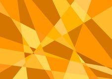 Vettore arancio poligonale del fondo Immagine Stock Libera da Diritti