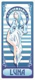 Vettore Art Nouveau Luna Immagine Stock Libera da Diritti