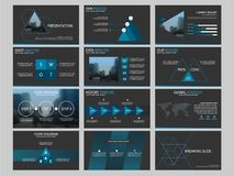 Vettore astratto blu del modello di progettazione dell'opuscolo del rapporto annuale del cerchio Manifesto infographic della rivi illustrazione di stock