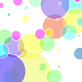 Vettore astratto con gli elementi variopinti della bolla Fotografia Stock