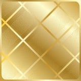Vettore astratto del fondo delle cellule dell'oro Fotografia Stock Libera da Diritti