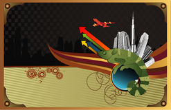 Vettore astratto della città illustrazione di stock