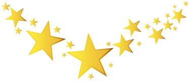 Vettore astratto della stella cadente Illustrazione con natale dorato Fotografia Stock Libera da Diritti