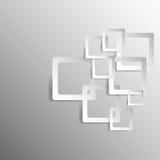Vettore astratto di progettazione del quadrato del fondo Fotografia Stock