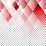 Vettore astratto geometrico di colore rosso degli elementi con fondo trasparente illustrazione di stock