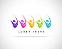 Vettore astratto Logo Design Template Fotografie Stock Libere da Diritti