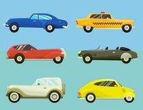 Vettore automatico classico del retro di vecchio stile dell'automobile del veicolo dell'automobile di velocità di sport di traspo Fotografia Stock