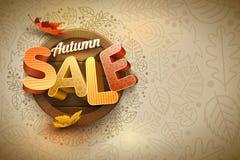 Vettore Autumn Sale Poster Design Template Fotografie Stock Libere da Diritti