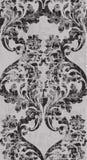 Vettore barrocco d'annata del modello dell'ornamento Struttura reale vittoriana Verticale decorativo di progettazione del fiore D illustrazione vettoriale