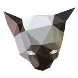 Vettore basso del poligono del fronte del gatto siamese Fotografia Stock