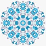 Vettore bella Mandala Roses Background Patte senza cuciture floreale Fotografia Stock