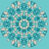 Vettore bella Mandala Roses Background Patte senza cuciture floreale Fotografia Stock Libera da Diritti
