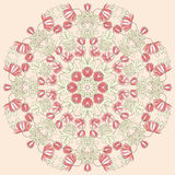 Vettore bella Mandala Roses Background Patte senza cuciture floreale Immagine Stock