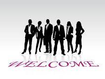 Vettore benvenuto Immagine Stock