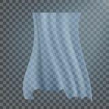 Vettore bianco d'ondeggiamento del panno Viel di seta Tenda del tessuto La radura copre Chiara illustrazione materiale realistica illustrazione di stock