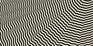 Vettore in bianco e nero attraversato ondulato di illusione ottica delle bande illustrazione vettoriale