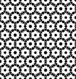 Vettore in bianco e nero del modello di ripetizione e immagine di sfondo senza cuciture fotografia stock
