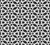 Vettore in bianco e nero del modello di ripetizione e immagine di sfondo senza cuciture immagine stock