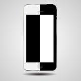 Vettore in bianco e nero del telefono cellulare di concetto Fotografia Stock Libera da Diritti