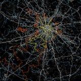 Vettore in bianco e nero della mappa di Mosca Fotografia Stock
